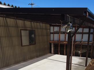 エクステリアリフォーム 屋外のデッドスペースを物干しスペースに